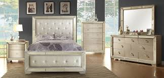 Silver Mirrored Bedroom Furniture by Showroom Quality Furniture At Warehouse Prices Loraine Cm7195