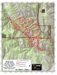 Wildfire Map August 2015 by Blue Mountain Fire Information Phillips Creek Fire Infrared Map 8
