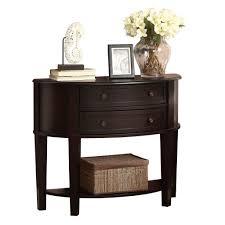 furniture sleek black demilune table demilune table design