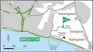 Sussex England Map by Brighton Club Site The Caravan Club