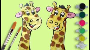 video for kids youtube kidsfuntv how to draw a cartoon giraffe learn colors with colouring pages