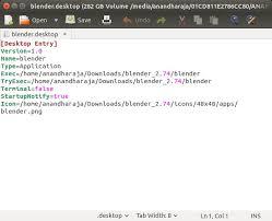 tutorial for blender 2 74 create a shortcut and associate blend file to blender in ubuntu
