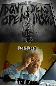 Computer Grandma Meme - 7 funny walking dead memes to get you revved up for the new season