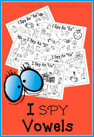 free i spy vowels printables super cute