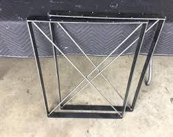 Flat Bar Table Legs Square Bench Legs Etsy