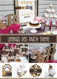 leopard print party supplies dogs all the leopard dog party theme big dot of happiness