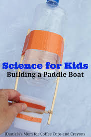 stem for kids build a paddle boat coffee cups and crayons