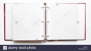 binder photo album open photo album blank pages ring binder file stock photo