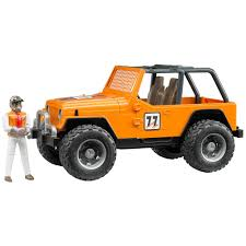 jeep wrangler orange amazon com bruder jeep cross country racer vehicle with driver