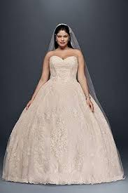 plus size wedding ball gown with lace appliques 8cwg749 beige