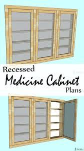 recessed medicine cabinet wood door h framed recessed or surface