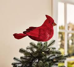 monogram tree topper cardinal bird tree topper pottery barn