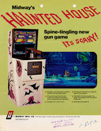midway u0027s haunted house arcade game flyer haunted houses