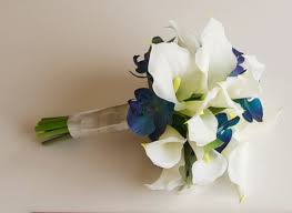 silk calla lilies real touch calla and orchid bouquet turquoise bouquet