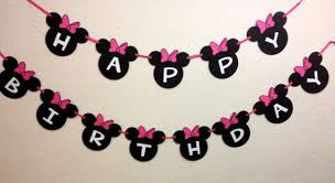 Minnie Mouse Banners Decorations KS Words