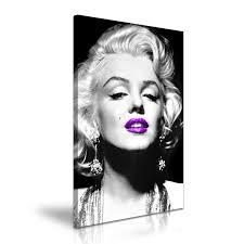 marilyn monroe icon modern wall art canvas print framed purple marilyn monroe icon modern wall art canvas print framed purple lips