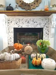 styling a coffee table getting ready for fall at the lake with