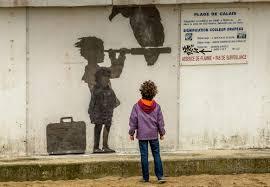 banksy s steve jobs mural spotlights refugee crisis cnn style