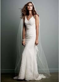 chiffon wedding dress chiffon wedding gown with ruffle detail and lace david s bridal