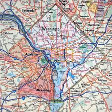 Map Washington Dc Washington D C Area Roads And Highways Map Roads And Highways