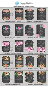 Personalized Wedding Programs Personalized Wedding Program Paddle Fans With Chalkboard Color