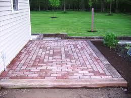 how to make a brick patio area home outdoor decoration