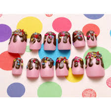 kawaii nails polyvore