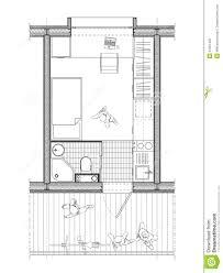 plan de chambre plan technique d une chambre d étudiant illustration stock