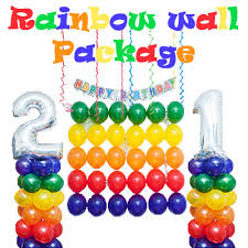 wholesale balloons rainbow colour balloon wall diy package purchase your do it