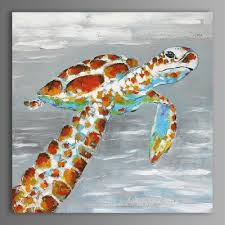 tortoise home decor xiangyunchengfeng abstract tortoise home decor canvas oil painting