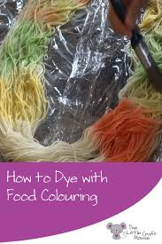 how to dye yarn with food colouring the little craft mouse