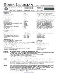 Resume Template For Actors by Fancy Actor Resume Sle 71 On Free Resume Builder With Actor