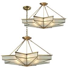 elk 22013 8 decostar contemporary brushed brass ceiling light