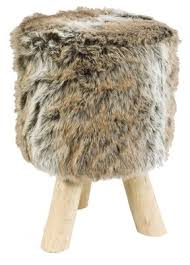 faux fur stool brown amazon co uk kitchen u0026 home
