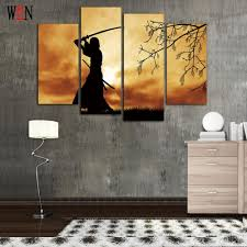 samurai canvas arts for living room modern japanese samurai wall