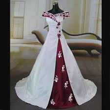 burgundy dress for wedding wedding dress burgundy and white a line the shoulder