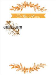 thanksgiving free printable series menu board fox hollow cottage