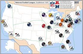 Buffalo State College Map by Nfl Cities Map With Conferences Displayed Nfl