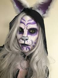 cheshire cat prosthetic makeup by dominiquedarko on deviantart