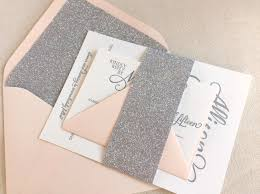 Silver Wedding Invitation Cards Everything That Sparkles The Stargazer Letterpress Printed