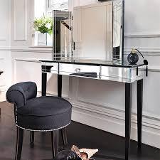 Velvet Vanity Chair Cream Makeup Vanity With Black Trim Contemporary Bedroom