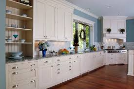 painted white shaker style brookhaven kitchen statutory marble