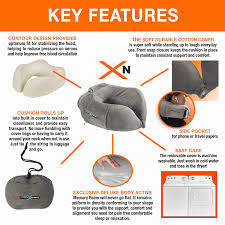 amazon com airplane neck pillow memory foam travel cushion for