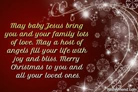 may baby jesus bring you and merry message
