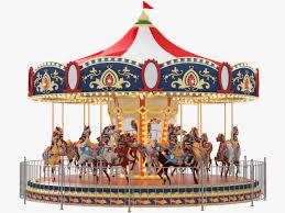 carousel carrousel merry go ride 3d model animated max obj