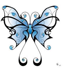 blue tribal butterfly designs by haodorin expo