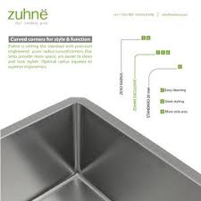 Deep Single Bowl Kitchen Sink by Zuhne 32 Inch Undermount Deep Single Bowl 16 Gauge Stainless Steel