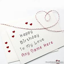 happy birthday card for lover with name