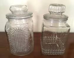 clear canister set etsy