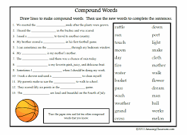 free printable vocabulary worksheets compound words printable